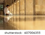 muslim adult man praying in...   Shutterstock . vector #607006355