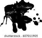 grunge texture. abstract... | Shutterstock .eps vector #607011905