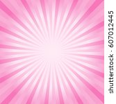 abstract soft pink rays...   Shutterstock .eps vector #607012445