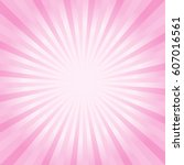 abstract light pink rays...   Shutterstock .eps vector #607016561