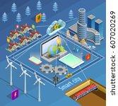 smart city internet of thing... | Shutterstock .eps vector #607020269