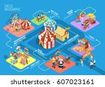 travel circus tent performance... | Shutterstock .eps vector #607023161