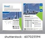 brochure  flyer  leaflet  cover ... | Shutterstock .eps vector #607025594