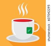 tea flat icon | Shutterstock .eps vector #607042295