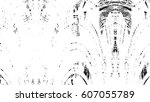 grunge black and white urban... | Shutterstock .eps vector #607055789