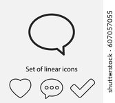 chat  linear icon. one of a set ...