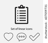 list icon. one of set web icons