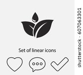 leafs with drop  icon. one of...