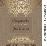 luxury ornament  lace in... | Shutterstock .eps vector #607068905