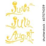 seasonal doodle hand drawn... | Shutterstock .eps vector #607074359