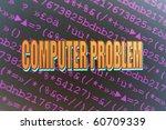 computer problem | Shutterstock . vector #60709339