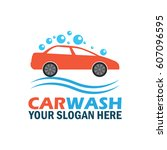 car wash service logo with text ... | Shutterstock .eps vector #607096595
