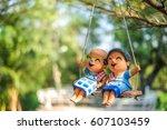 the couple lover grandparent... | Shutterstock . vector #607103459