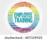 employee training circle word... | Shutterstock . vector #607105925
