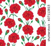 vector seamless pattern with... | Shutterstock .eps vector #607113815