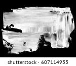 white paint ink spot blotch ... | Shutterstock . vector #607114955