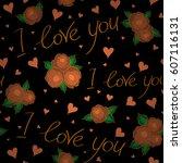 design for valentines day...   Shutterstock .eps vector #607116131
