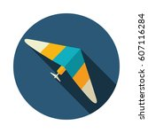hang glider vector icon. travel.... | Shutterstock .eps vector #607116284