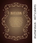 vintage background with brown... | Shutterstock .eps vector #607116641