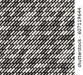 vector seamless black and white ... | Shutterstock .eps vector #607119644