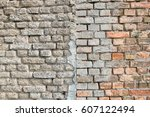 brick wall as background | Shutterstock . vector #607122494