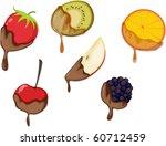 illustration of a fruit slices... | Shutterstock .eps vector #60712459