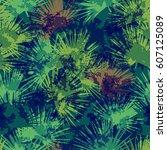 Palm Pattern Seamless Tropical...
