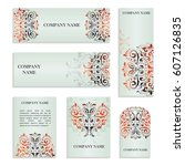 set of templates for business... | Shutterstock .eps vector #607126835