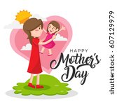 Isolated Cute Happy Mother's...
