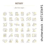 vector graphic set.icons in... | Shutterstock .eps vector #607135691