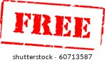 free rubber stamp | Shutterstock .eps vector #60713587