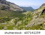 landscape with the river in a... | Shutterstock . vector #607141259