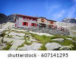 ponti refuge in val masino.... | Shutterstock . vector #607141295