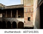 castello del buonconsiglio ... | Shutterstock . vector #607141301
