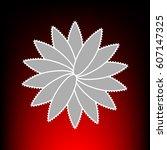flower sign. postage stam or...
