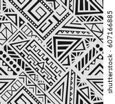 creative ethnic style square... | Shutterstock .eps vector #607166885