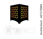 cut out template for lamp ...   Shutterstock .eps vector #607170884