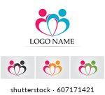 community people logo | Shutterstock .eps vector #607171421