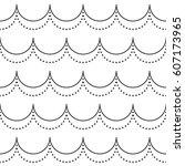 the geometric wave pattern.... | Shutterstock .eps vector #607173965