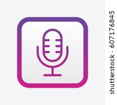 microphone icon. outline style   Shutterstock .eps vector #607176845