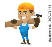 Handyman Holding Hammer And...