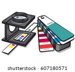 illustration of equipments... | Shutterstock .eps vector #607180571