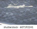 a close up view of shingles a... | Shutterstock . vector #607192241