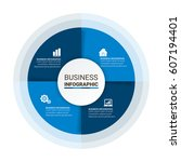 modern business circle... | Shutterstock .eps vector #607194401
