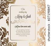 antique baroque luxury wedding...   Shutterstock .eps vector #607198847