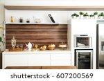 kitchen | Shutterstock . vector #607200569