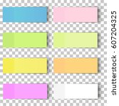 set of office paper sheets or... | Shutterstock .eps vector #607204325