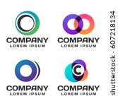 logos for business vector set | Shutterstock .eps vector #607218134