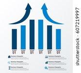 modern infographic options... | Shutterstock .eps vector #607219997