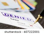 loan form close up  fountain... | Shutterstock . vector #607222001